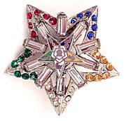 Vintage Eastern Star Pin or Brooch Masons