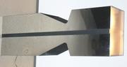 Kovacs chromed metal Light - up Pedestal