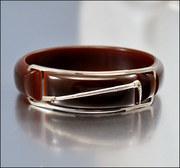 Equestrian Art Deco Bakelite Bangle Bracelet Vintage Jewelry