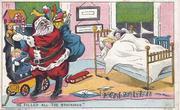 Santa with 2 girls sleeping