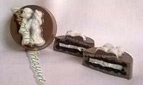 CHOCOLATE WEDDING COOKIE SANDWICH FAVOR
