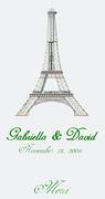 CHOCOLATE EIFFEL TOWER EDIBLE IMAGE FAVOR