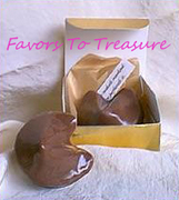 CHOCOLATE FORTUNE COOKIE FAVOR