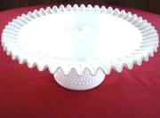 Milk Glass Cake Plate
