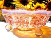 Carnival Glass Marigold Berry Bowl