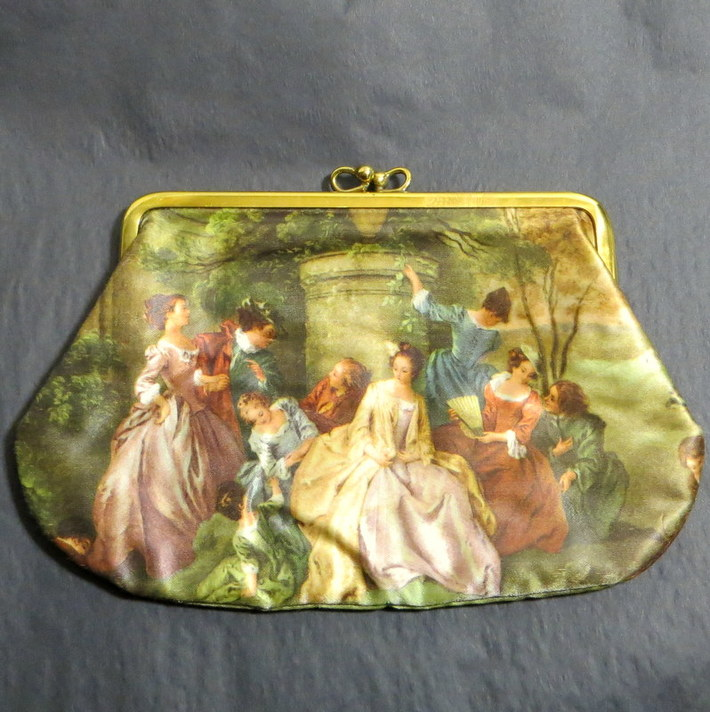 Vintage luxury Italian silk cosmetic case fashion accessories