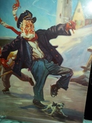 Ice Skating Grandpa Hy Hintermeister art print 8 x 11