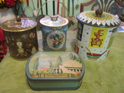 Assorted tins