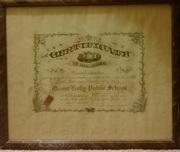 Mount Holly Public School Certification 1924 Franklin L. Kates