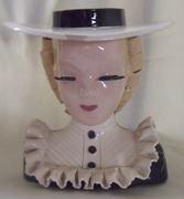 Hand painted head vase