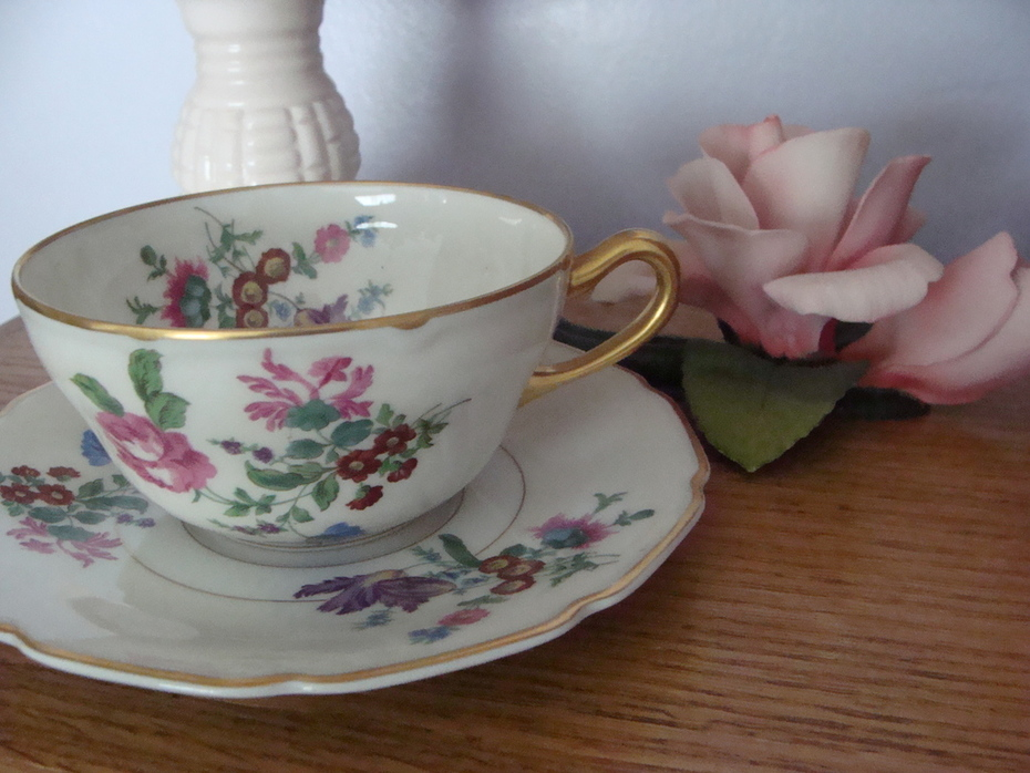 T&V Limoges France Tea cup and Saucer