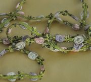 Silk Rosette Rose Trim