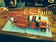 Hand Made Wooden Fire Truck, English made
