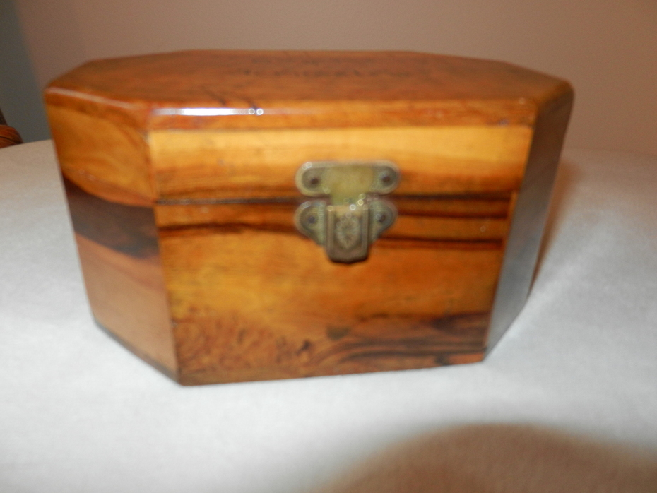 Antique Jewelry Box - Teak Wood - Circa 1900 - $59.95 with Free shipping within the Continental US