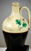 Antique German Hand Painted Earthenware Pottery Medicinal Jug