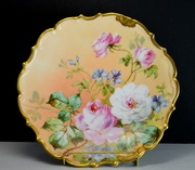 Limoges Flambeau Plate Charger signed