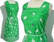 Vintage 60s Chicken Print Sun Dress