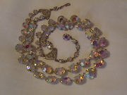1950s, glass AB necklace (b)