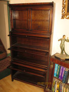 Early 20th century barrister's bookcase, oak (b)