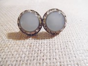 CORO Signed Vintage Screw Back Earrings, Rhinestones