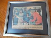 Captain Kangaroo, Bob Keeshan, Framed Dallas Morning Newspaper Article