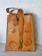 Boho Chic, Tooled Leather Peacock Handbag