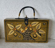Enid Collins Wooden Box Bag