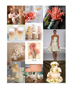 Inspiration Board: Peach & Ivory