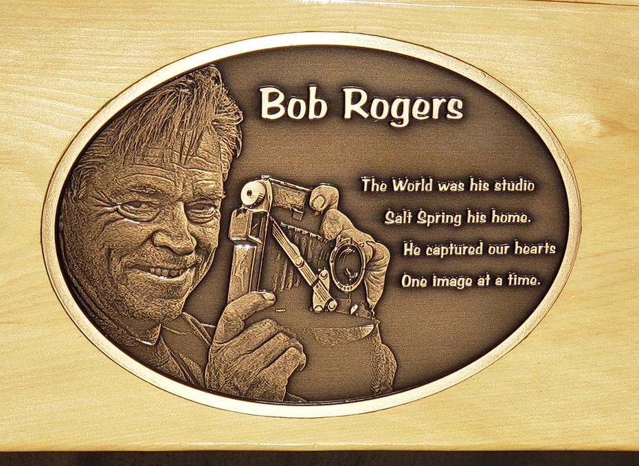 Bob's Memorial Bench Placque