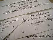 Calligraphy for weddings