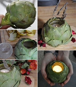 Quick DIY Artichoke Candle Holder