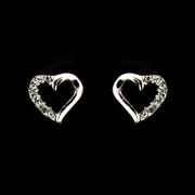 silver heart earrings1