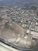 FLying over the Mision Plams (it's the square)