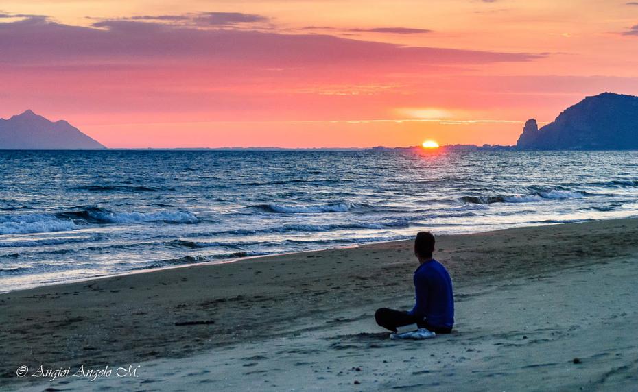 preghiere osservando il tramonto