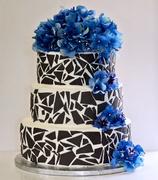 Gray Mosaic Cake