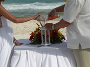 The Wedding Day Sand Ceremony Hourglass at Beach Wedding