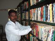 Senthur Velmurugan. V in the Library