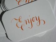 Orange Favor Tags