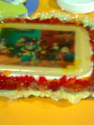 gelatina con motivo de yoy story transparente