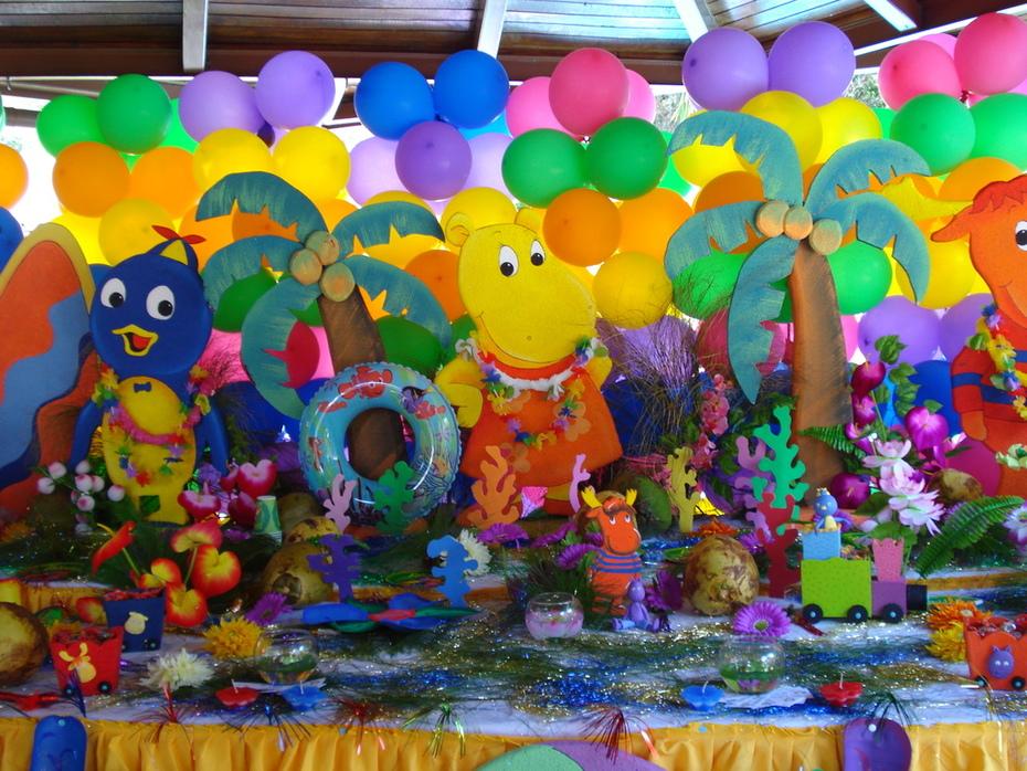 decoraciones de mesa - fiesta Backyardiganas