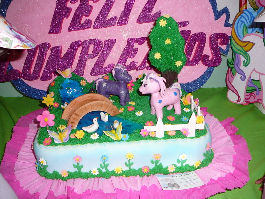 torta jardin de pony