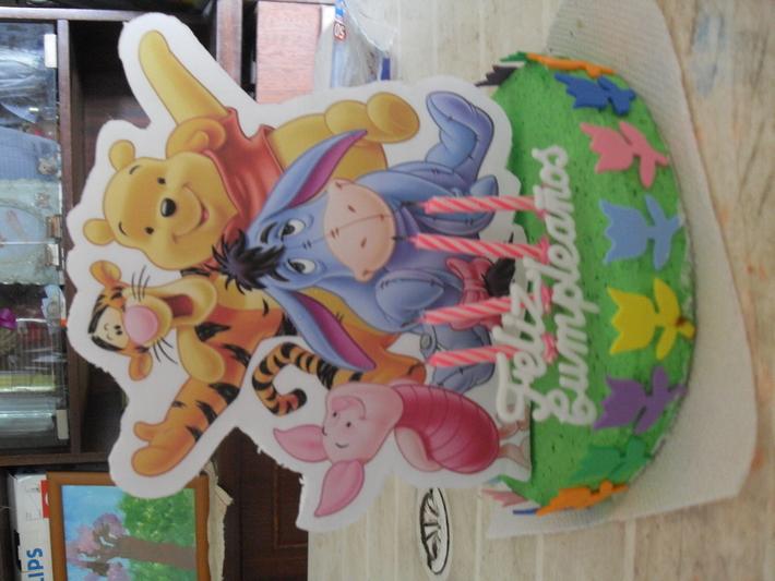 la decoracion, centro de torta