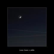 Luna linee e stelle