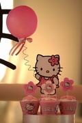 torre de cupcakes detalle kitty