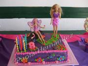decoracion backyardigans y barbie mariposa