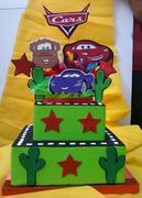 torta falsa de cars