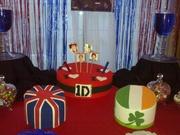 one direction decoracion de torta