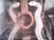 Twin snakes guitar art