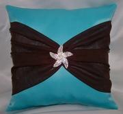 Rhinestone Starfish Ring Bearer Pillow
