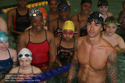 PA and NJ Swimmers pose w Anthony Ervin (MA Diversity Committee 4/2012)